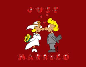kostenlose ecard Hochzeit: Just Married!