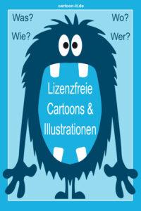 Lizenzfreie Cartoons & Illustrationen - Was? Wo? Wie? Wer?