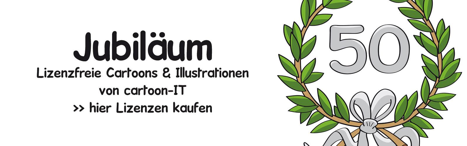 Lizenzfreie Cartoons & Illustrationen JUBILÄUM